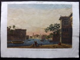 Description de l'Egypte C1820 HCol Print. Place Appellee Birket-El-Fyl. Cairo